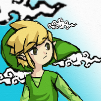 Toon Link texture practice by mayday-daywalker