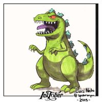 Inktober Day-29 - Reptar by Spidersaiyan