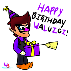 Happy 18th Birthday Waluigi! by Walu-Sushi