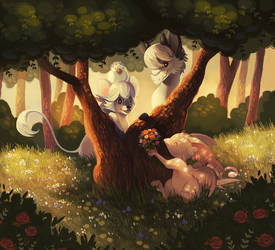 Friendship in the Thicket by spottedfawns