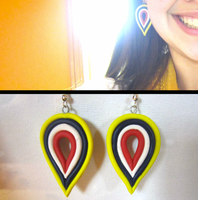 Polymer Earrings by FlamingChickCreation