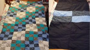 Patchwork Quilt - Blue by LoadsOfRandomness