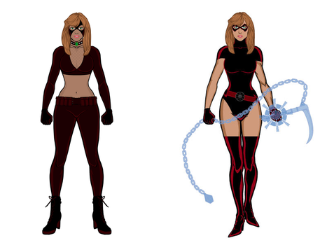 Psi-kick: Possible Future Costumes by cptpatriot