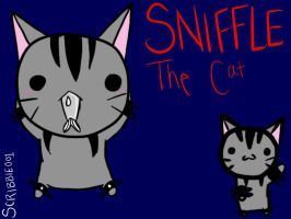 Sniffle The Lazy Kitty by Scribbles001