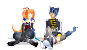 .:MMD:. The Fox and the Hound by Miku-Nyan02