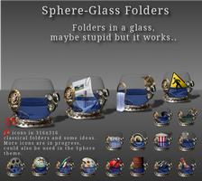 Sphere folder icons in a glass by Potzblitz7
