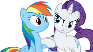 Rarity and Rainbow Dash Vector - Ahem by CyanLightning