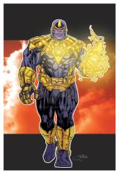 Thanos of Sinestro Corps by RCarter
