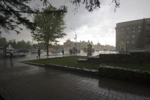 Rain in Novosibirsk by rain