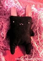 The black rabbit plush by Heart-Attack-Design