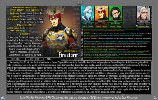 [Earth-27: Oracle Files] Firestorm by Roysovitch