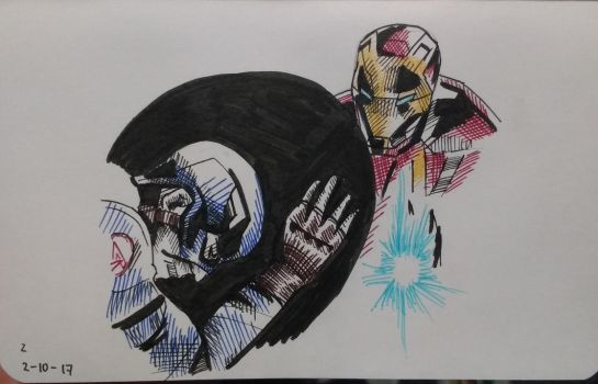 Inktober17 Day 2-Civil War by Dan21Almeida95