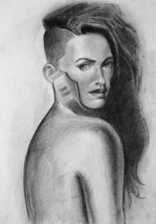 Charcoal study by zednaked