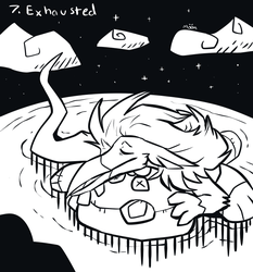 Inktober 07: Exhausted by Moonlit-Comet