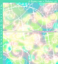 Shiny Dotted Swirls Photoshop Brushes by Coby17