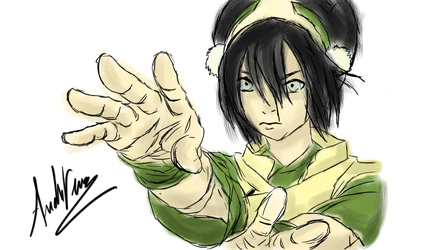 Toph Beifong Illustration w/Color by AndrewScrolls