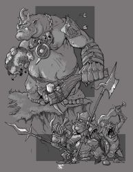 Orcs and Ogre by cwalton73
