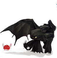 Wing Critch Toothless by Dreamsoffools