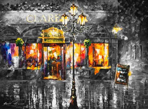 Misty Cafe  Limited edition giclee by Leonidafremov