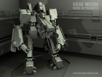 Siege Mecha WIP II by MikeDoscher