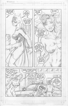 Batgirl vs Catwoman: Arrested Development page 3 by SatyQ