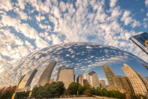 The dome, Chicago Bean, Cloud Gate by alierturk