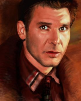 Harrison Ford by AtanvarneArt