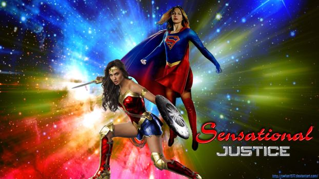 Wonder Woman/Supergirl - Sensational Justice wp by SWFan1977
