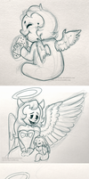 Wings AU Doodles by 9CentsChange