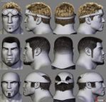 Gears of War Hairstyles 01 by Woodys3d