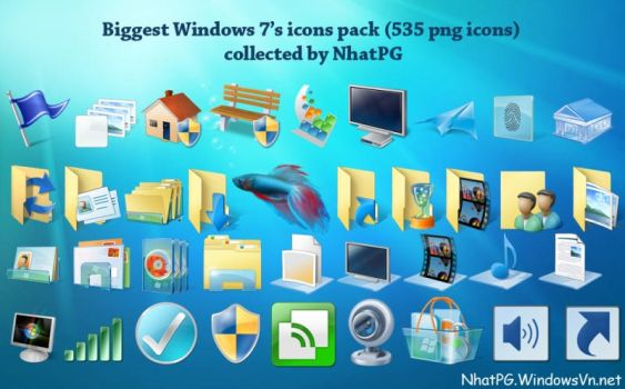 Big Windows 7's icons pack by NhatPG