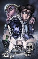 Corpse Bride Character Collage by TimareeZadel