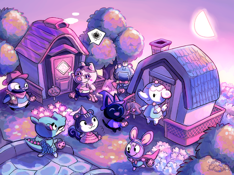 ACNL - Trick or Treat! by aquanut