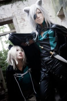 Cosplay:Lamento -beyond the void- Rai x Konoe by bittys