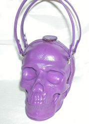 Purple Leather Skull Bag by GriffinLeather