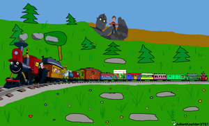 Casey Junior Character Train by RailToonBronyfan3751