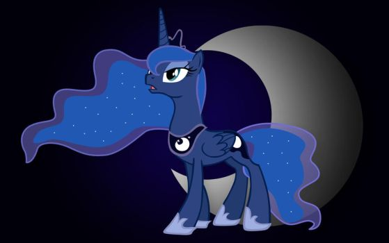 MLP - Princess Luna - Eclipsed by JoeHellser