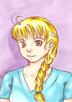 Blonde Braid by BloodRubiesNata