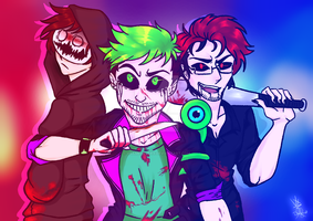 The Dark, Mad and Anti  Caught-- by VgameloverX