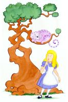 Alice and the Cheshire Cat by JonBeanHastings