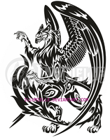 Tattoo: FlameTail Gryffin by Illumielle