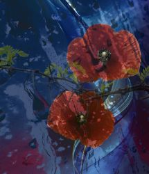 Poppies and thorns by Bonaparte1700