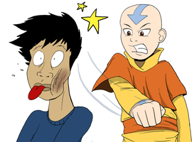 Aang vs. Shaymalan by torquesmacky