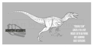 Deinonychus antirrhopus by BlueCea