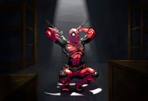 Deadpool caught in the act! by luismonteiro