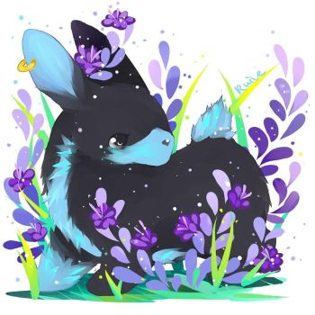 Bunny and flowers by ruivemin