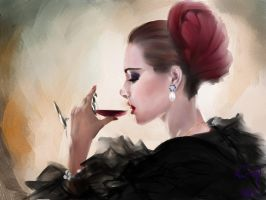 Lady in red by Nai-Q