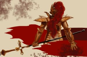 Dark Souls: Dragonslayer Ornstein by spazzmistic