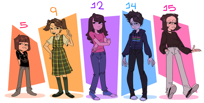 DRAW MY LIFE STAGES by Merengeee