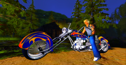Me And my Blue Chopper (Color Test) by DJ7493